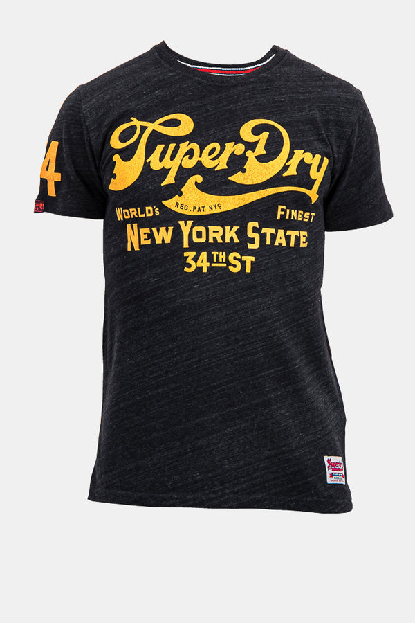 Superdry Men's New York State T-Shirt In Black  - Labels4Less