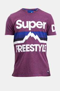 Superdry Men's Freestyle T-shirt In Purple - Labels4Less