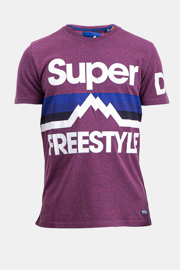 Superdry Men's Freestyle T-shirt In Purple