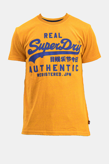 Superdry Men's Real Authentic T-shirt In Yellow