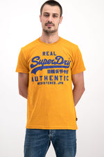 Superdry Men's Real Authentic T-shirt In Yellow - Labels4Less