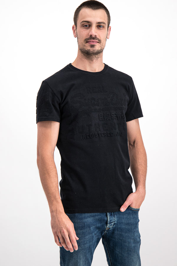 Superdry Men's Real Authentic T-shirt In Black - Labels4Less