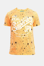 Superdry Men's The Real JPN T-shirt In Yellow
