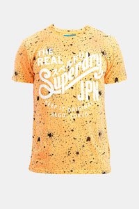 Superdry Men's The Real JPN T-shirt In Yellow - Labels4Less