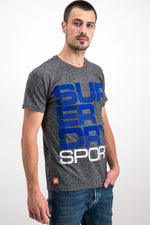 Superdry Men's Sport T-Shirt In Grey - Labels4Less