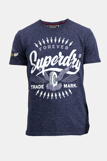 Superdry Men's Forever Trade Mark T-shirt In Purple