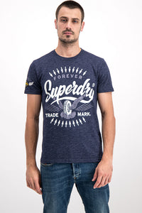 Superdry Men's Forever Trade Mark T-shirt In Purple - Labels4Less