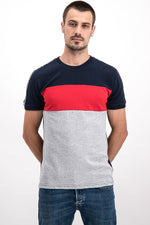 Superdry Men's Tri-Color Athletic T-shirt In Grey - Labels4Less