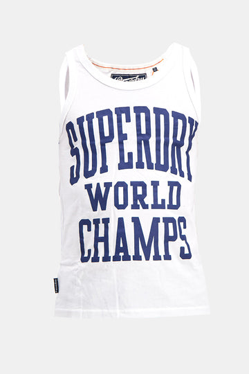 Superdry Men's World Champs Vest In White