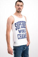 Superdry Men's World Champs Vest In White - Labels4Less