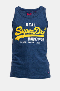 Superdry Men's Real Vintage Vest In Blue - Labels4Less