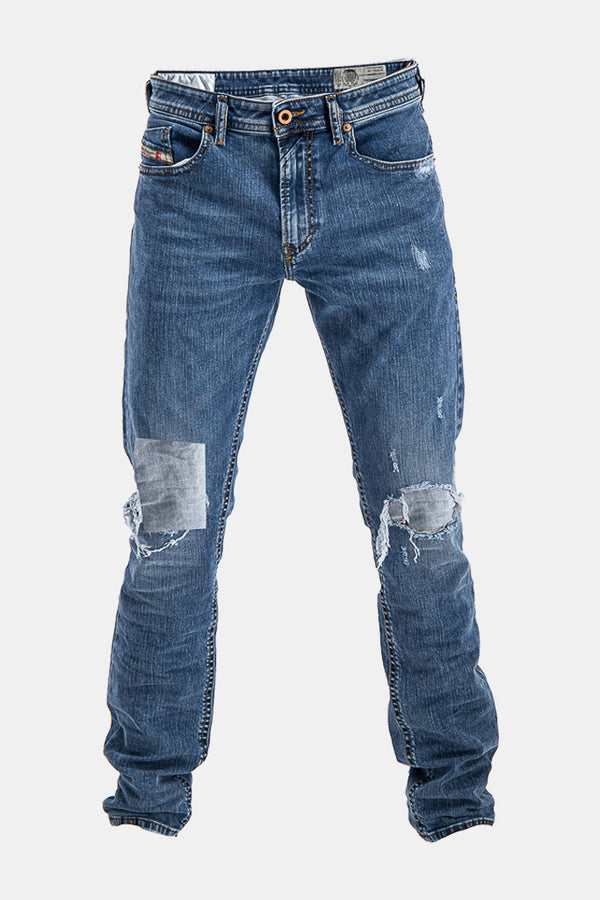 Diesel Men's Thommer 084UV Slim Skinny Jeans In Blue - Labels4Less