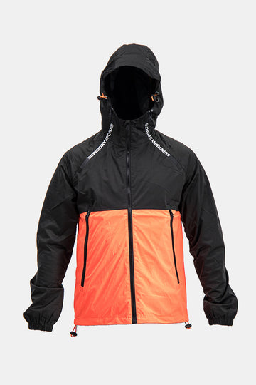 Superdry Men's Light Jacket In Black/Orange