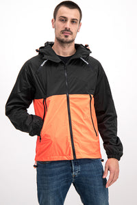 Superdry Men's Light Jacket In Black/Orange - Labels4Less