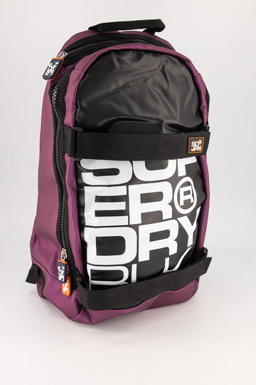 Superdry Men's Mega Ripstop Tarp Backpack In Black/Purple