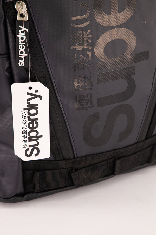 Superdry Men's Mega Ripstop Tarp Backpack In Black - Labels4Less