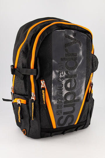 Superdry Men's Mega Ripstop Tarp Backpack In Black/Grey