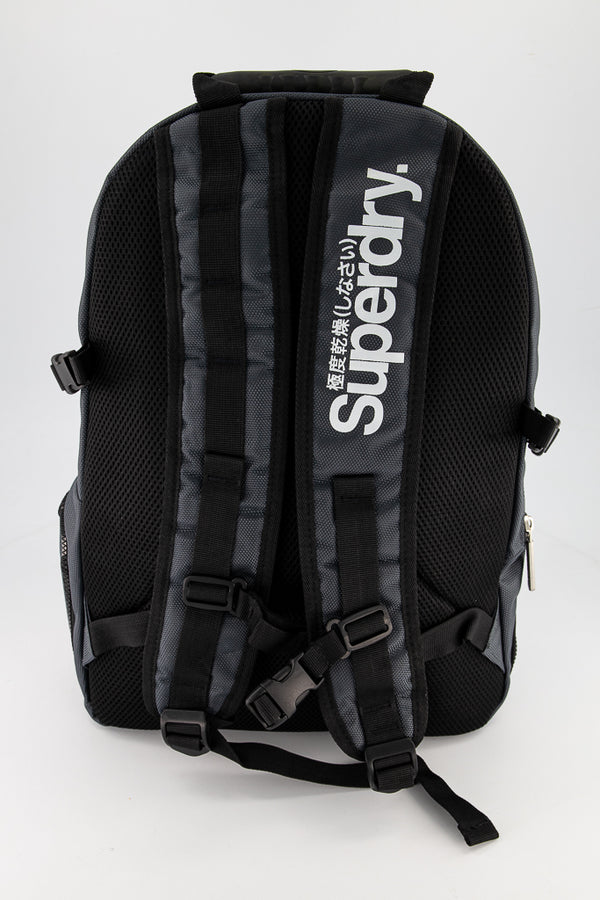 Superdry Men's Mega Ripstop Tarp Backpack In Grey/White