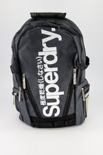Superdry Men's Mega Ripstop Tarp Backpack In Grey/White - Labels4Less