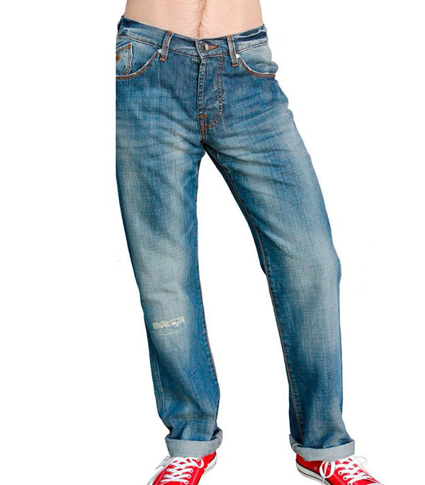 Energie Men's Straight-cut Jeans In Blue - Labels4Less