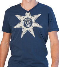 Diesel Men's Port Ltd T-shirt In Blue - Labels4Less