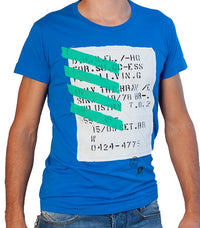 Diesel Men's T-Tuwua-RS T-shirt In Blue - Labels4Less