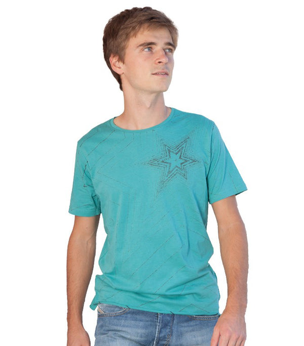 Diesel Men's T-Tombak T-shirt In Turquoise - Labels4Less