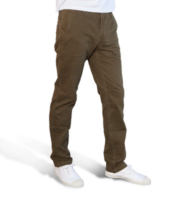 Superdry Men's Dark Olive Green Chinos