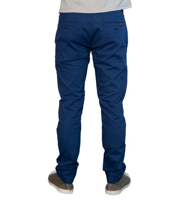 Superdry Men's Blue Style Chinos - Labels4Less