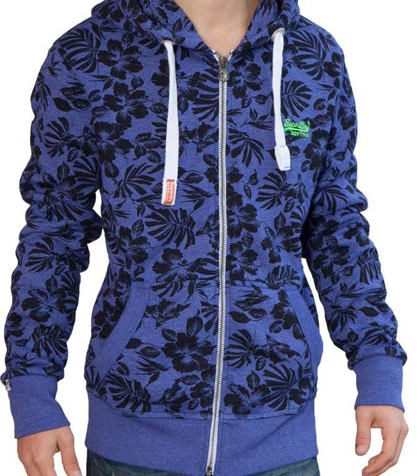Superdry Men's All Over Leaf Hoodie - Labels4Less