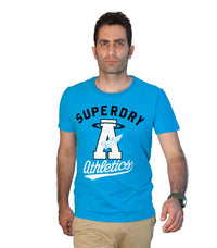 Superdry Men's A Athletics T-shirt In Blue - Labels4Less