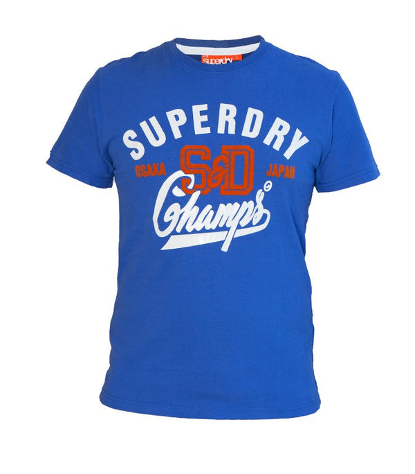 Superdry Men's Champs T-shirt In Blue - Labels4Less