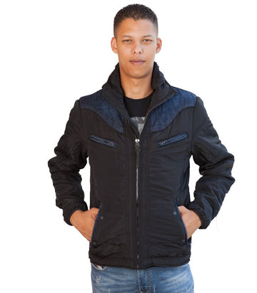 Diesel Men's Hybrid Jacket In Black