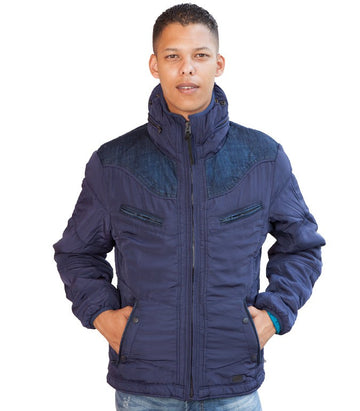 Diesel Men's Hybrid Jacket In Blue