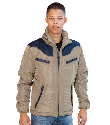 Diesel Men's Hybrid Jacket In Tan