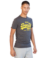 Superdry Men's Real T-shirt In Grey - Labels4Less