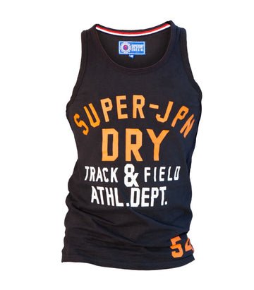 Superdry Men's Track & Field Vest In Black