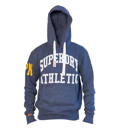 Superdry Men's State Athletic Hoodie In Blue
