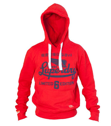 Superdry Men's Limited 6 Edition Hoodie In Red
