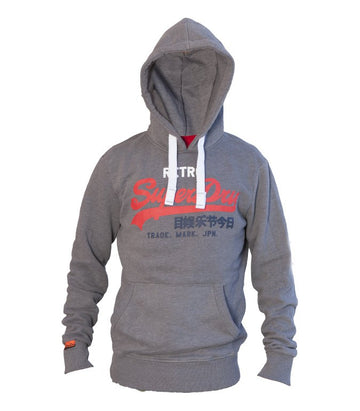 Superdry Men's State Athletic Hoodie In Grey