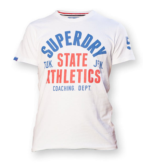 Superdry Real State Athletics T-shirt In White - Labels4Less