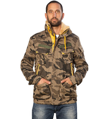 Superdry Faux Fur Camo Jacket