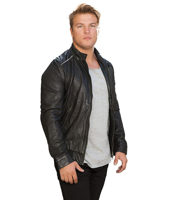 Jack & Jones Thomas Leather Jacket - Labels4Less
