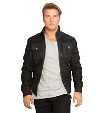 Jack & Jones balbus leather jacket - Labels4Less