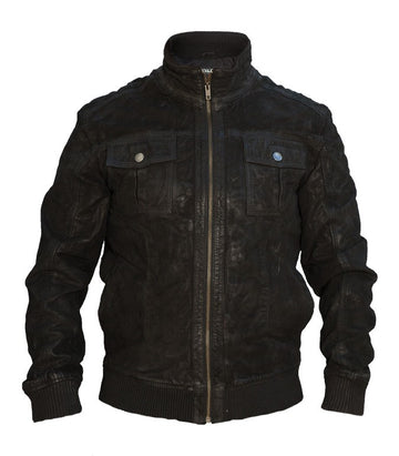 Jack & Jones balbus leather jacket