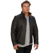 Jack & Jones lile leather jacket - Labels4Less