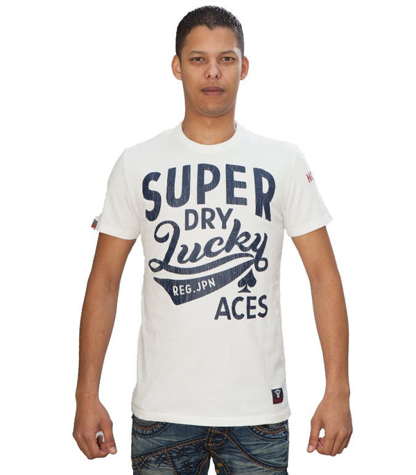 Superdry Men's Lucky Aces T-shirt In White - Labels4Less