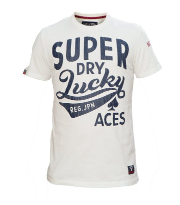 Superdry Men's Lucky Aces T-shirt In White