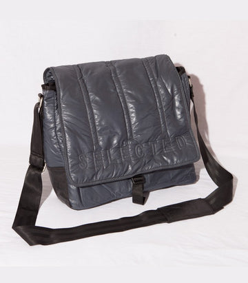 Selected Padded Bag Grey/Black