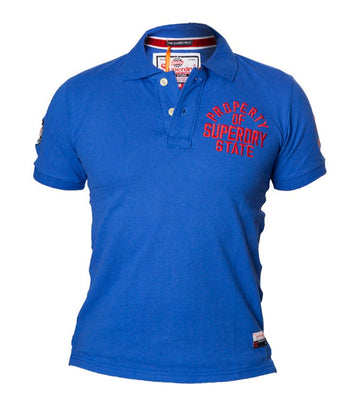 "Superdry Men's ""The Classic Polo""  Golfer In Blue"